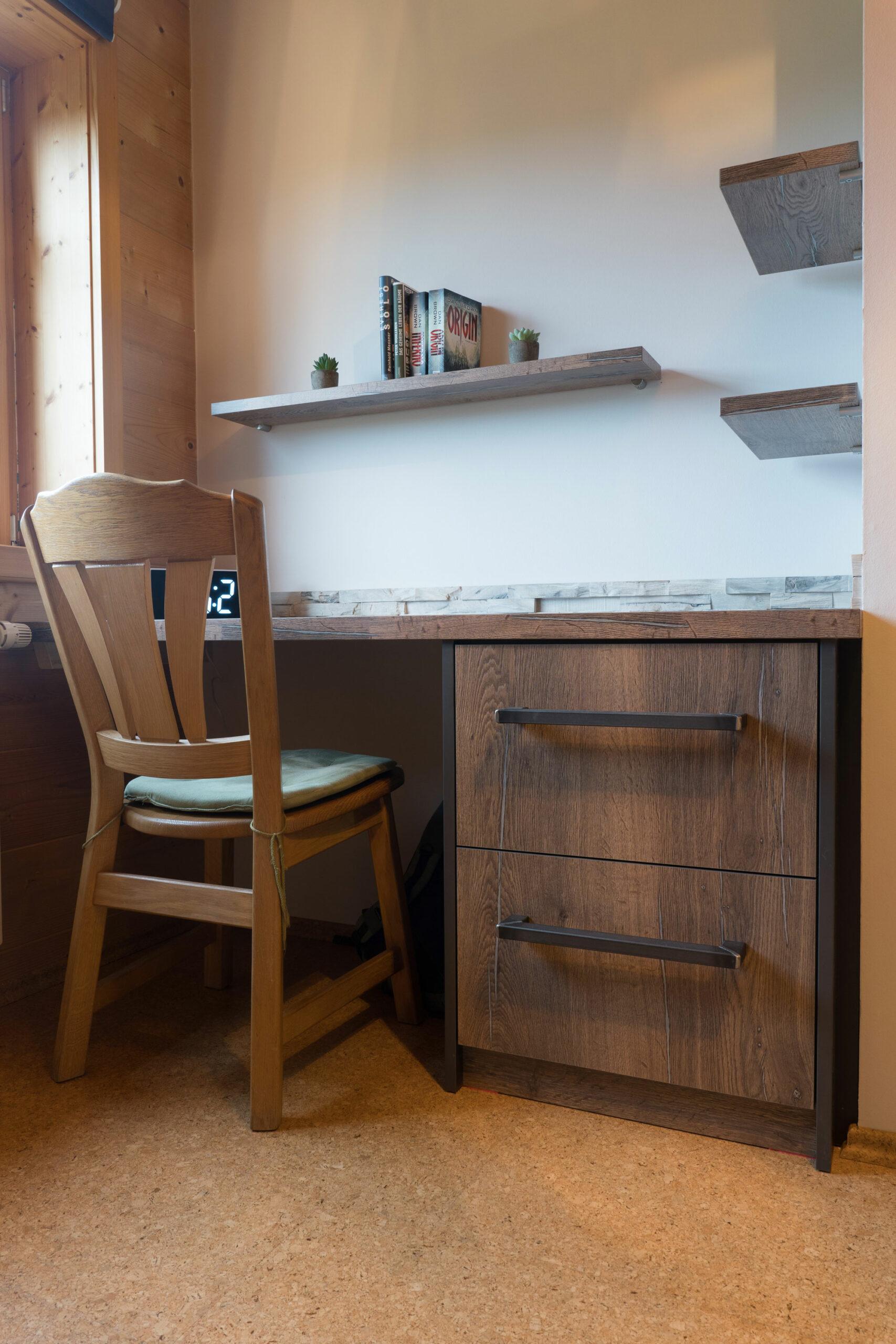 Schreibtisch Eiche mit Zink