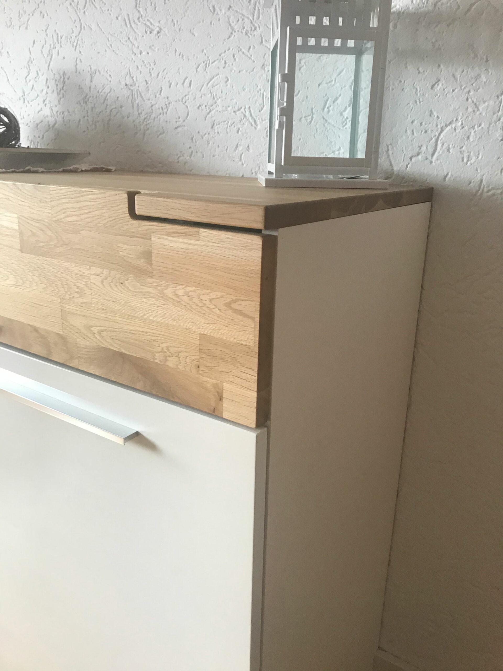 Sideboard Diele Eiche geölt und weiß lackiert